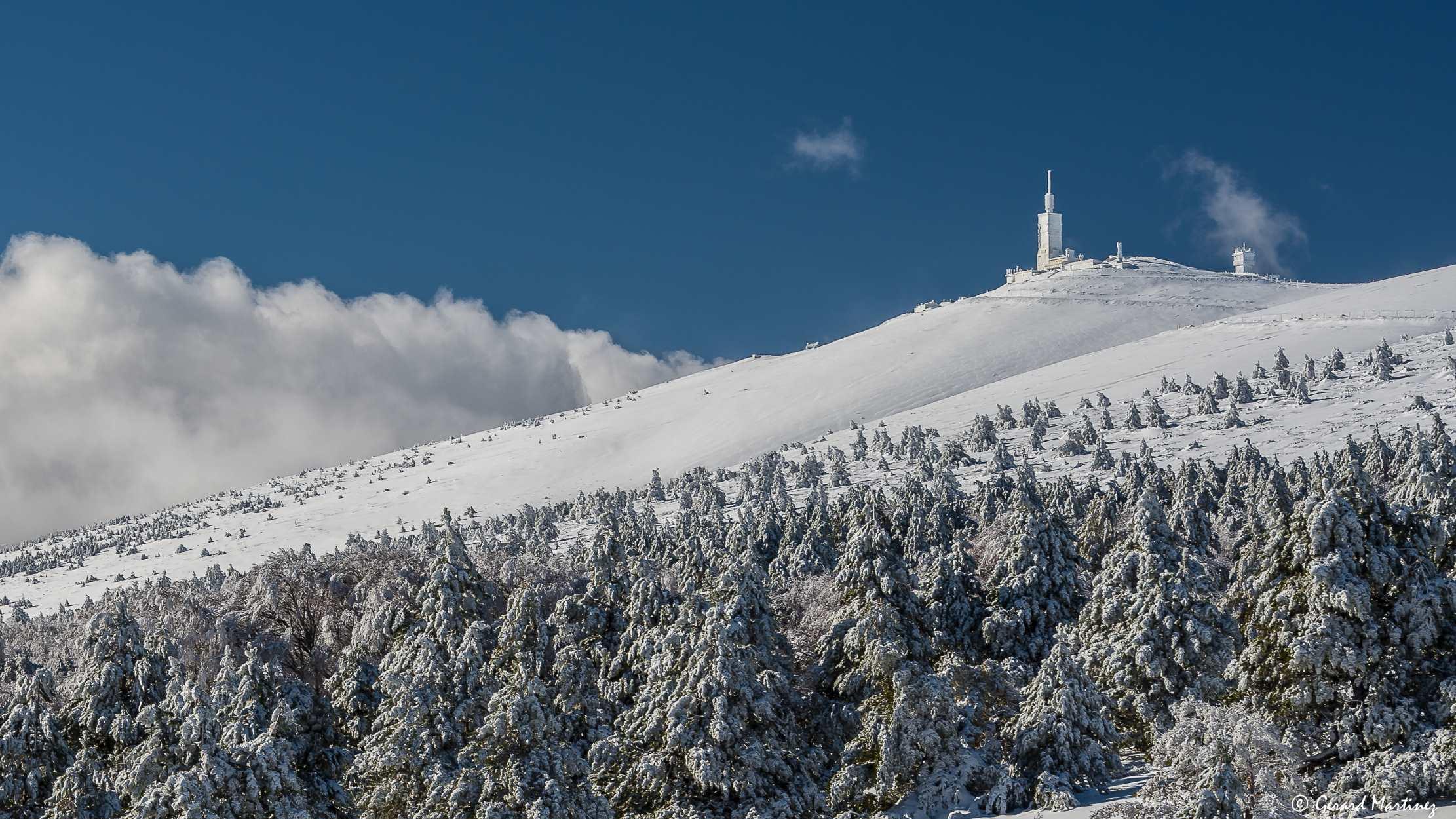 Le ventoux sous la neige
